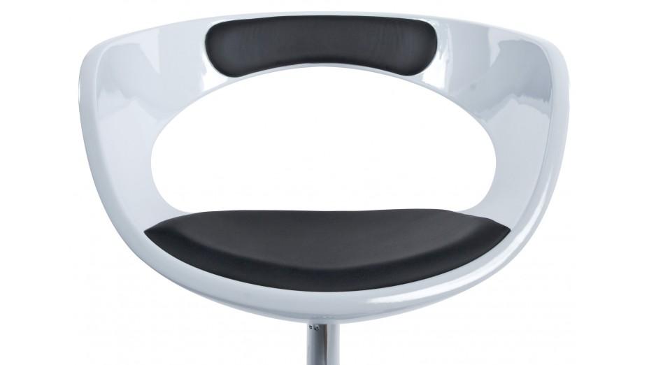 Pace fauteuil design abs blanc et noir - Fauteuil design noir et blanc ...