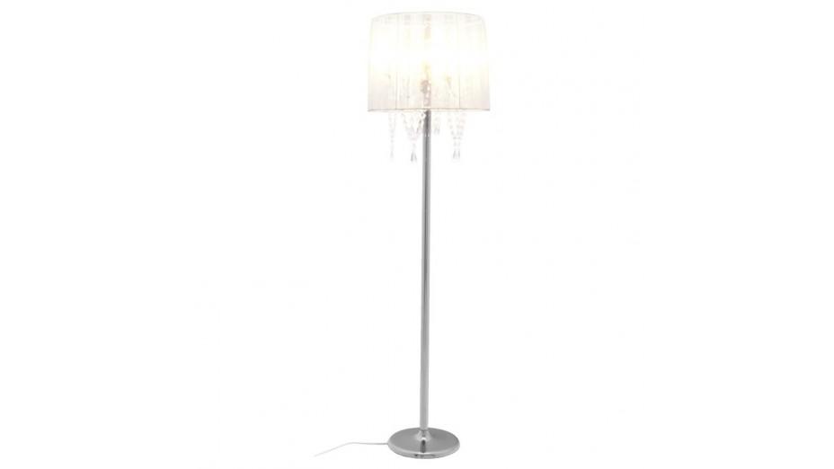 klass lampadaire romantique abat jour blanc. Black Bedroom Furniture Sets. Home Design Ideas