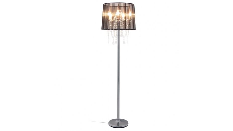 Klass lampadaire romantique abat jour noir - Lampadaire abat jour noir ...