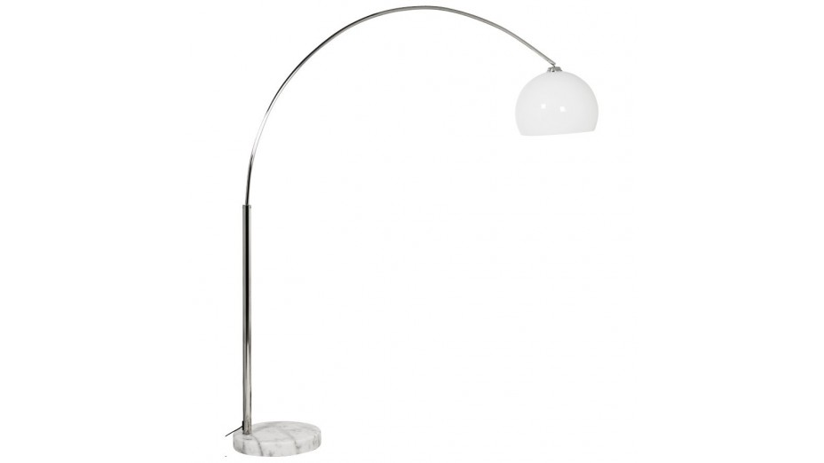 Kaw xl lampadaire blanc arc 195 cm - Lampadaire arc blanc ...