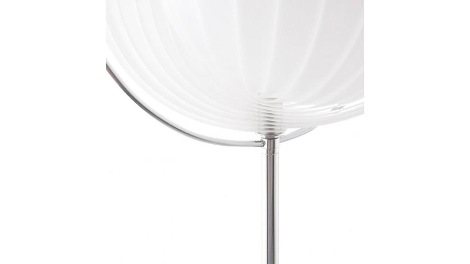 Nalu - Lampadaire design à lamelles blanc