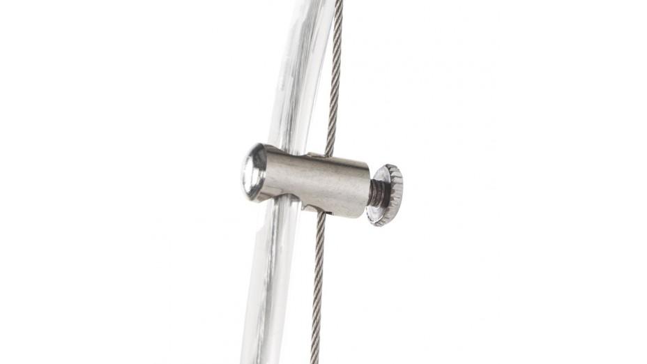 Gop - Suspension boule alu brossé intérieur blanc