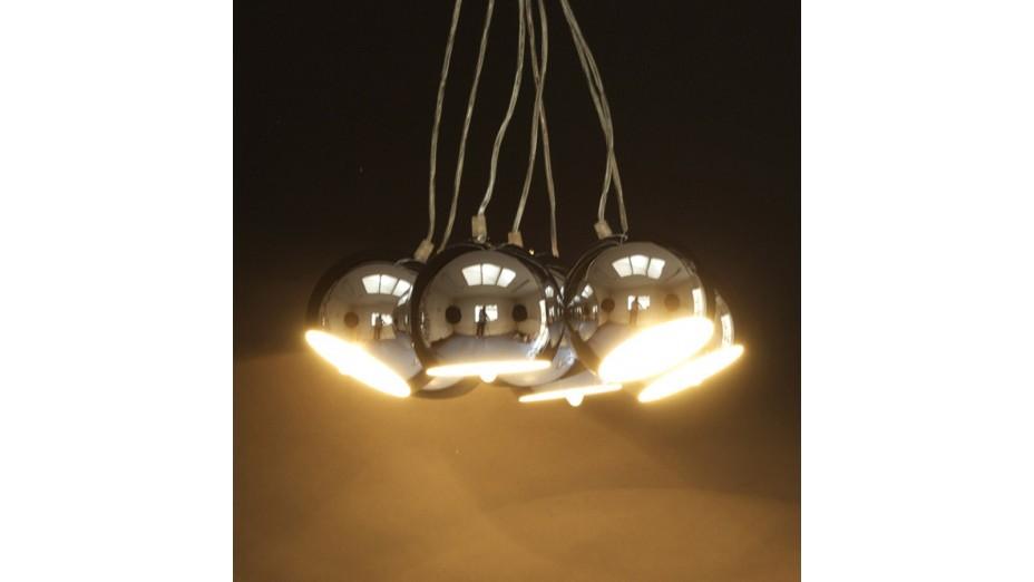 STEPH - Suspension design boules suspendues chrome