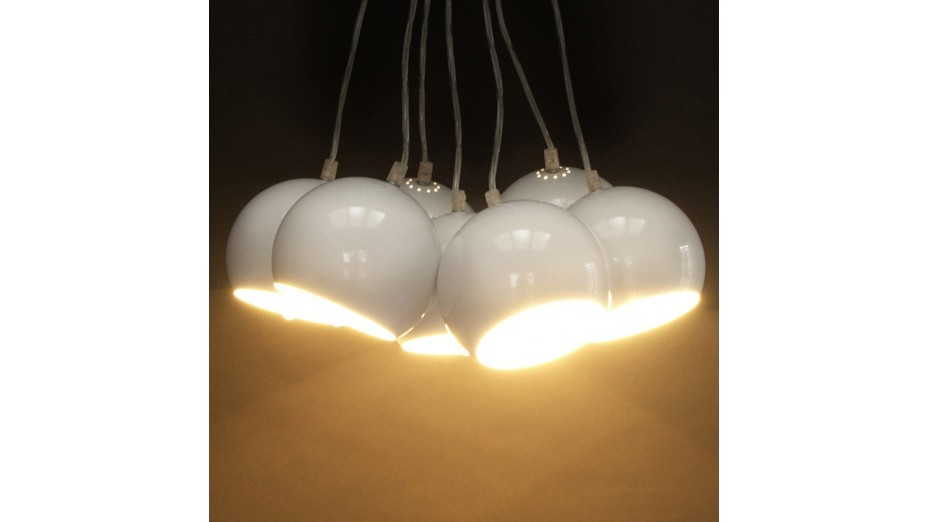 STEPH - Suspension design boules suspendues blanche