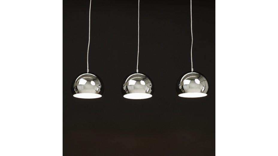 Clara suspension triple chrom e for Lustre suspension triple