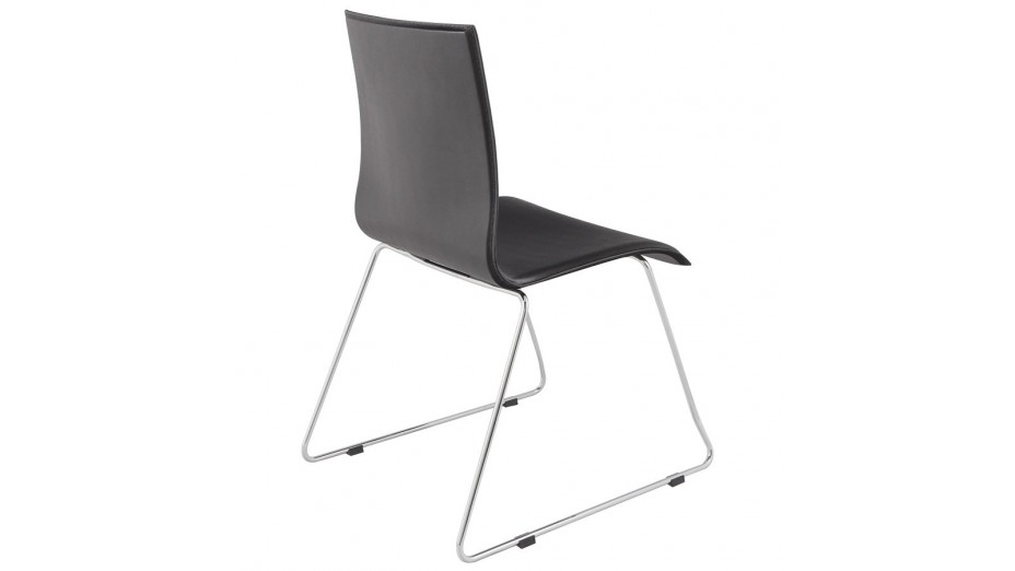 Snap chaise contemporaine en simili cuir noir - Chaise simili cuir noir ...