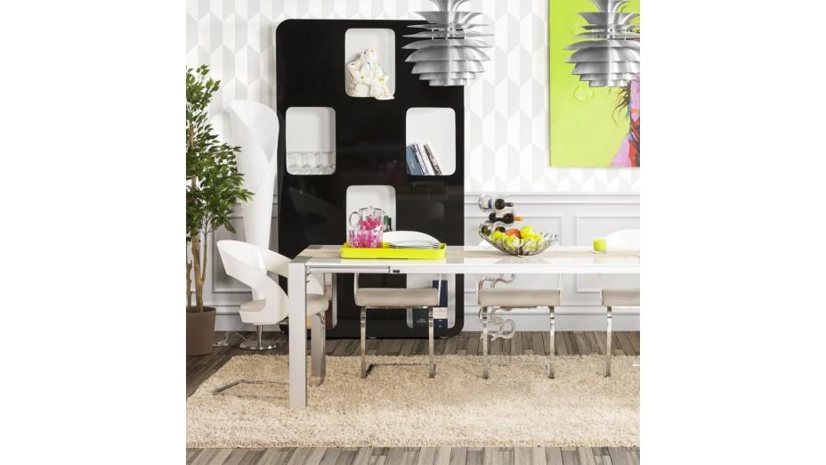 Cosy - Chaise moderne assie en simili cuir blanc