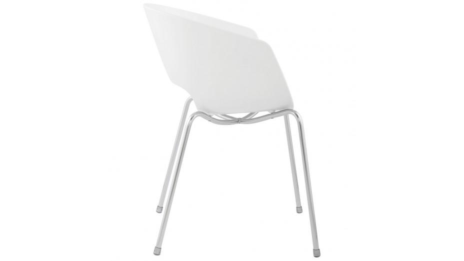 chaise design blanche chaise design blanche de luxe deco in paris lot de chaises design blanche. Black Bedroom Furniture Sets. Home Design Ideas