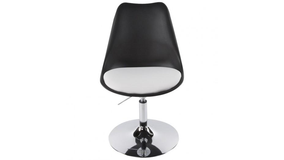 Lys chaise moderne pivotante blanche et noire - Chaise noire et blanche ...