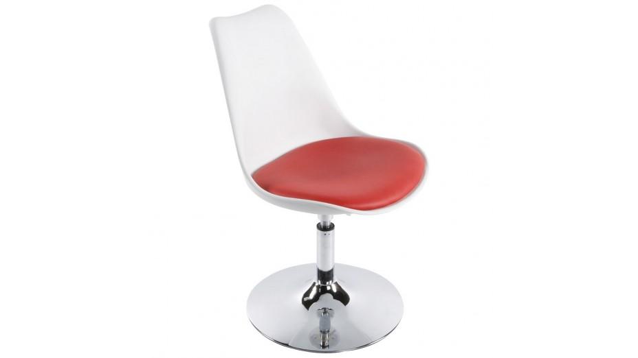 lys chaise moderne pivotante blanche et rouge. Black Bedroom Furniture Sets. Home Design Ideas
