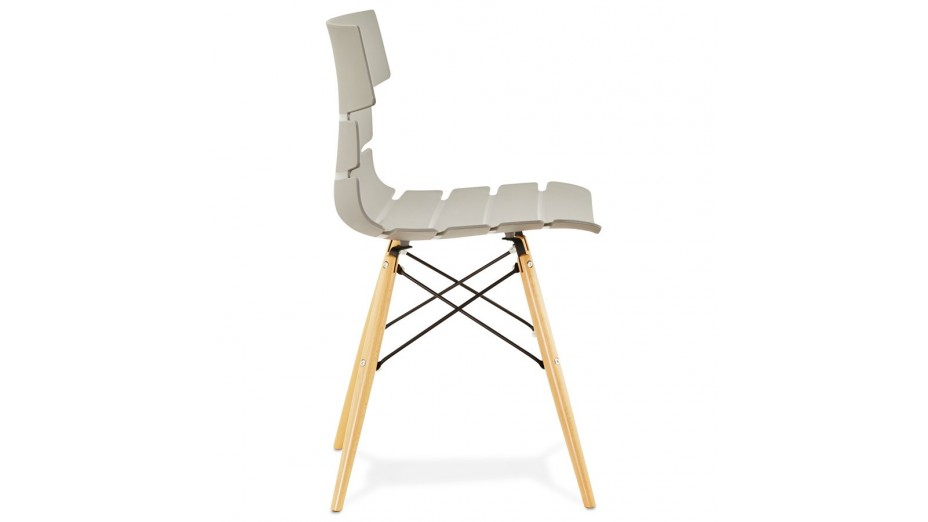 VIP - Chaise style scandinave grise