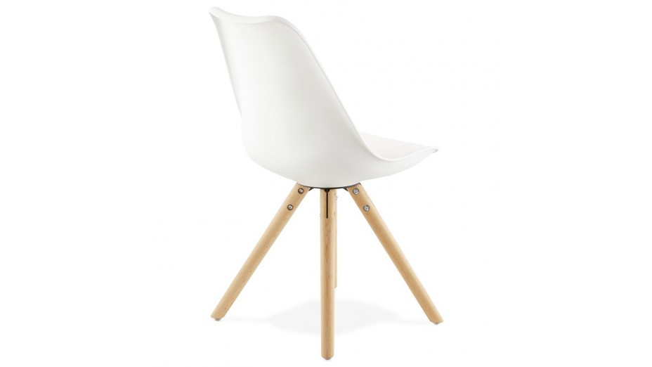 NEW - Chaise moderne blanche