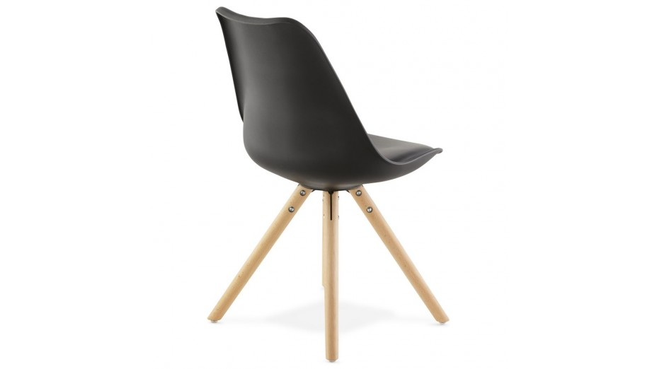 NEW - Chaise moderne noire