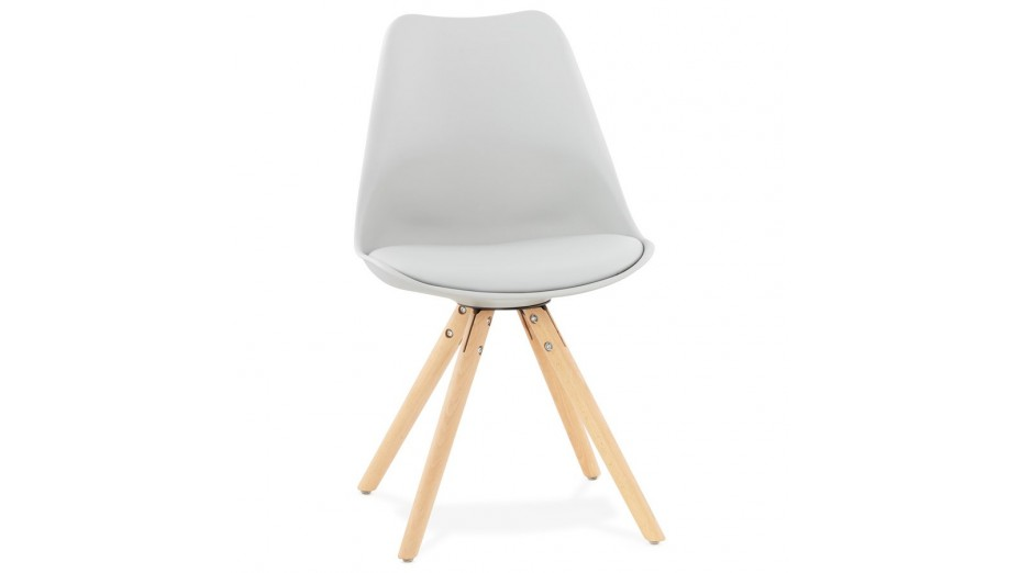 NEW - Chaise moderne grise