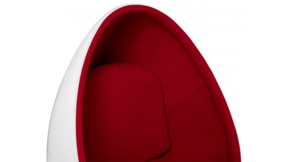 Ei - Fauteuil oeuf blanc et rouge