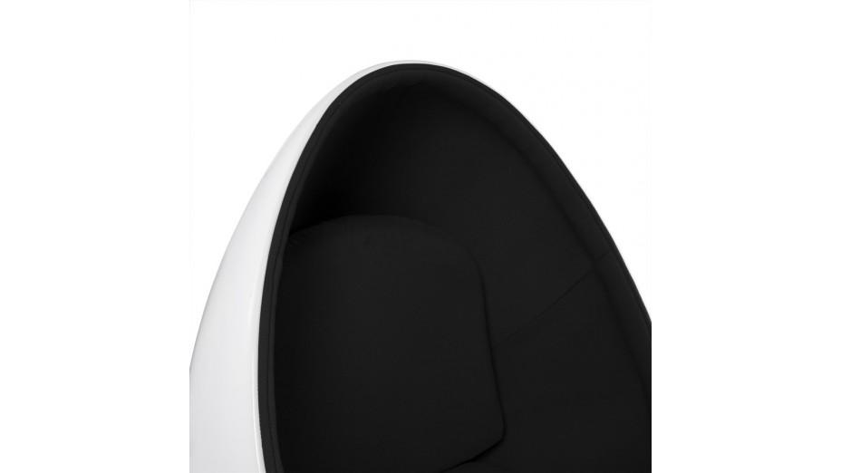 Ei - Fauteuil oeuf blanc et noir