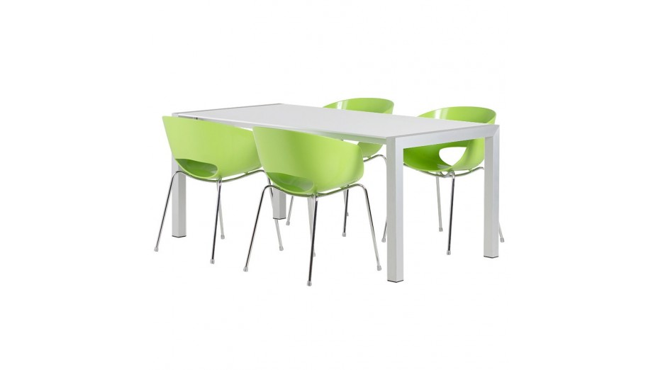 Table design extensible blanc laqu ruup - Table extensible blanc ...