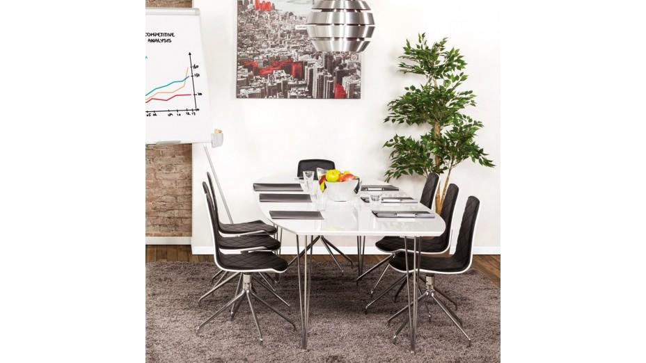 Ixo - Table à manger extensible blanche