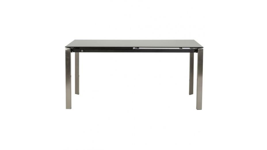 Bakou table extensible verre tremp noir - Table basse verre trempe noir ...