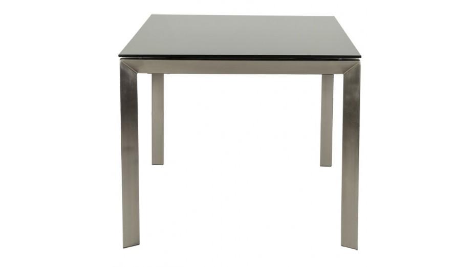 bakou table extensible verre tremp noir. Black Bedroom Furniture Sets. Home Design Ideas