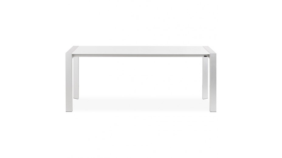 Lucy - Table à diner extensible blanche