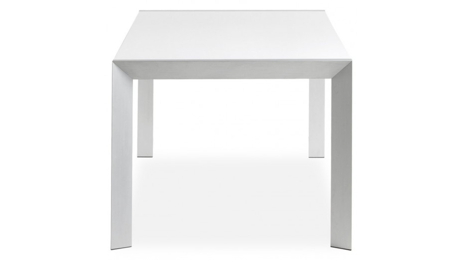 Lucy table diner extensible blanche for Table blanche extensible