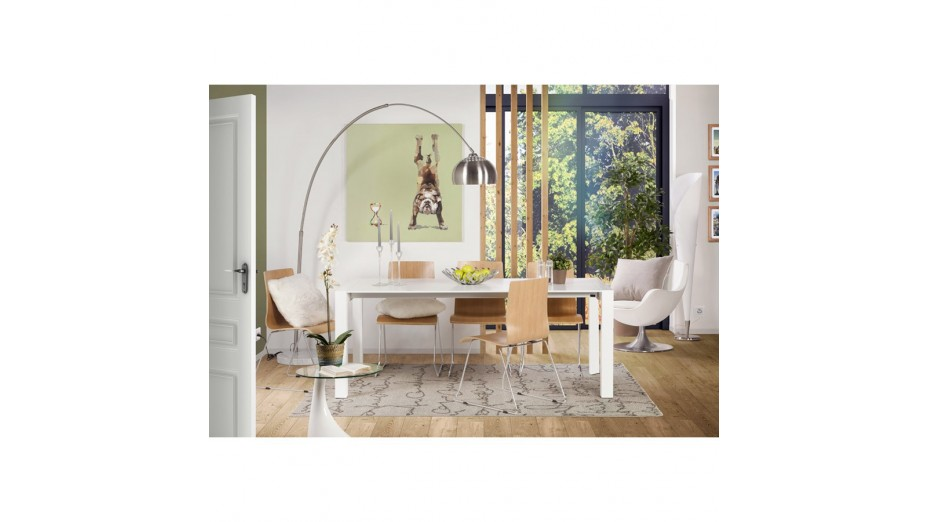 Riga - Table extensible blanche