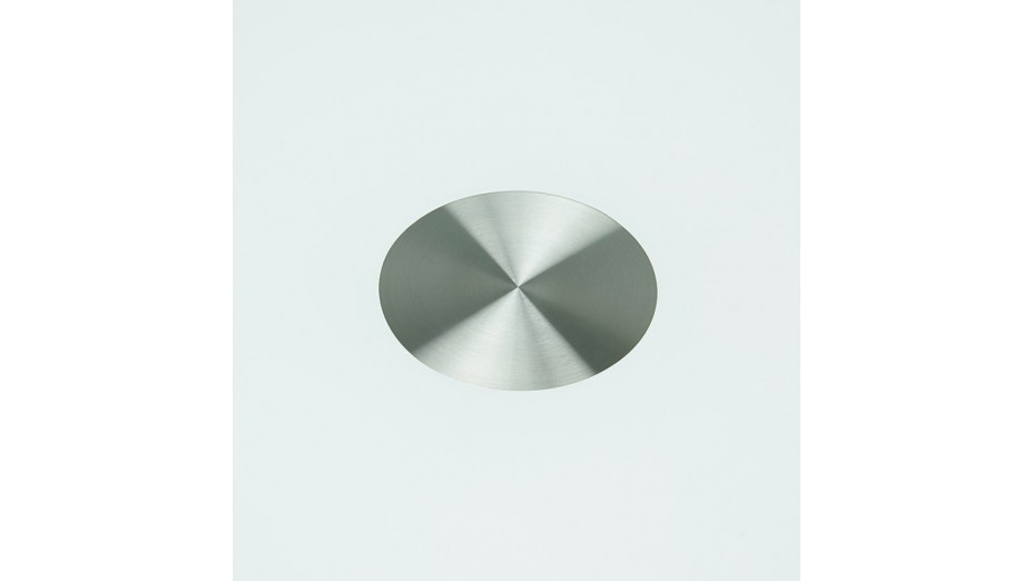 Alofi - Table ronde blanche plateau verre