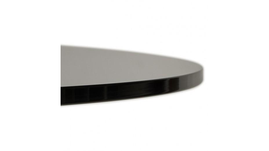 alofi table ronde noir plateau verre. Black Bedroom Furniture Sets. Home Design Ideas