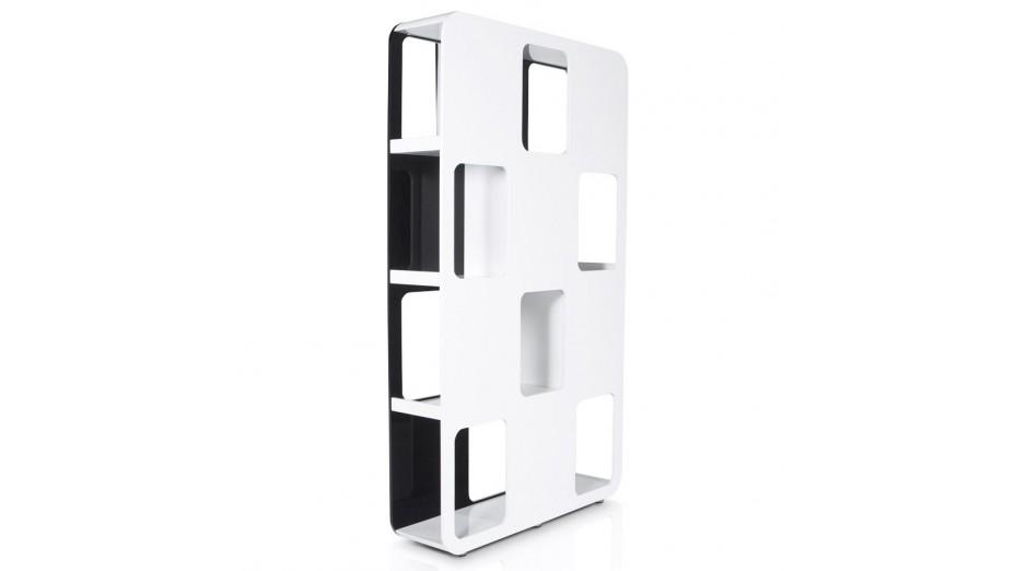 Dua etag re noir blanc design - Etagere noir et blanc ...