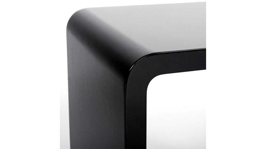 Cub - Cube de rangement noir empilable
