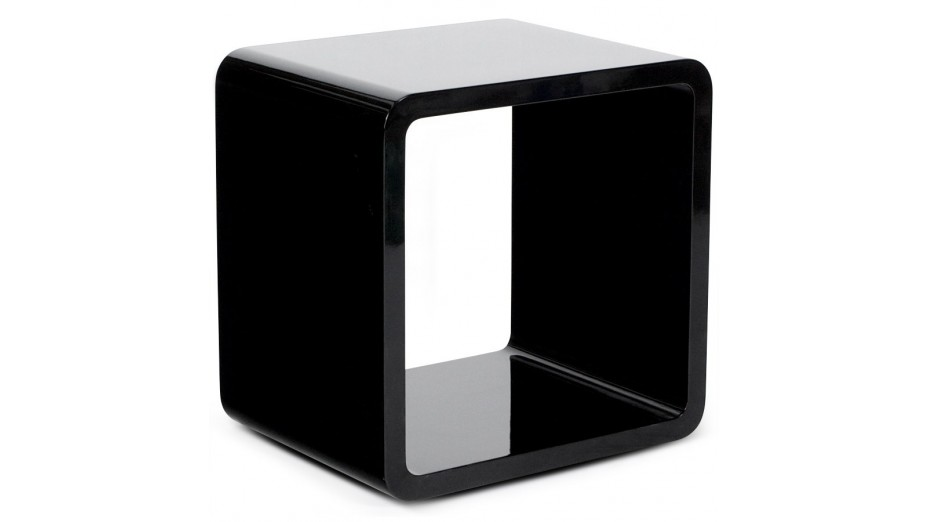 Cub cube de rangement carr noir empilable - Cube de rangement empilable ...