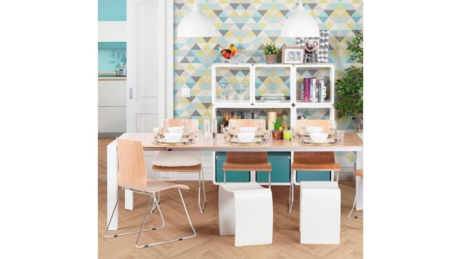 cub cube de rangement carr blanc empilable. Black Bedroom Furniture Sets. Home Design Ideas