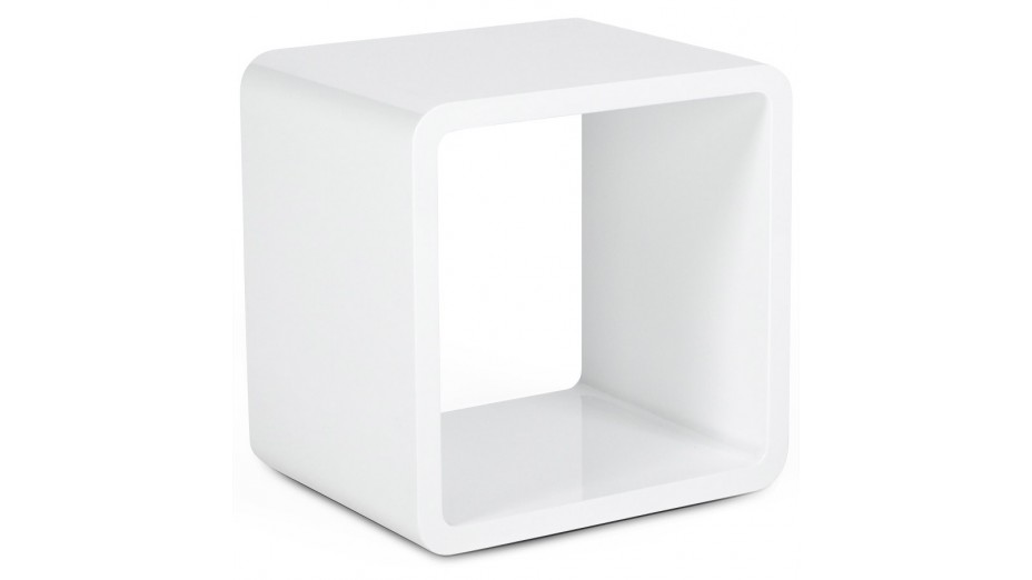 cub cube de rangement carr blanc empilable. Black Bedroom Furniture Sets. Home Design Ideas