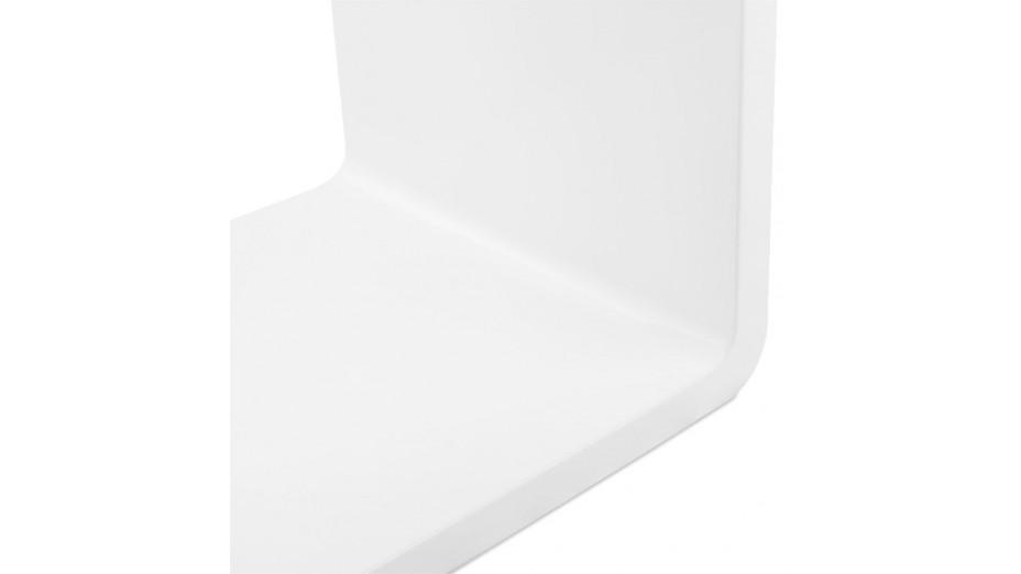 Rek - Cube de rangement recangulaire en bois laqué blanc