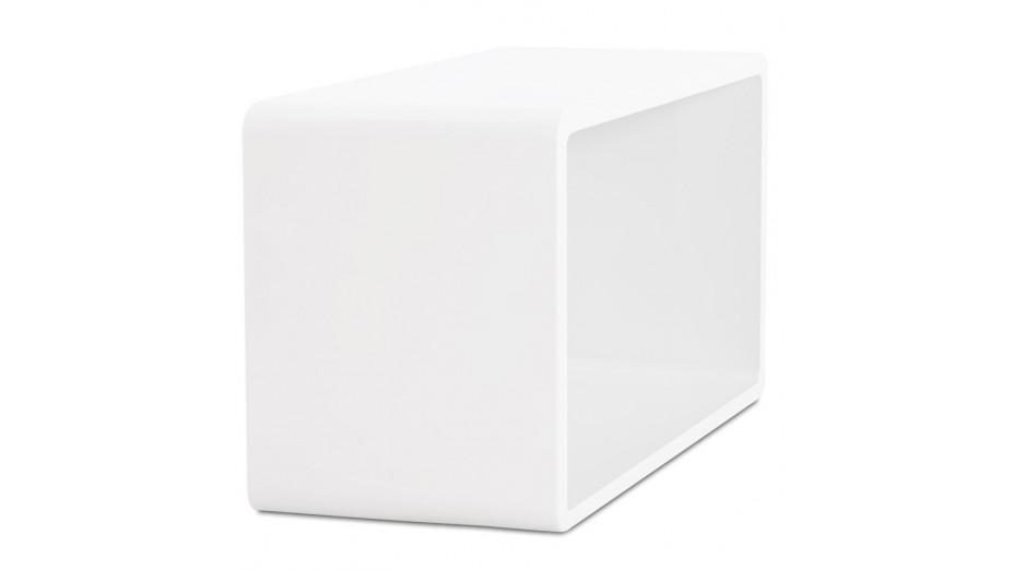 Rek cube de rangement recangulaire en bois laqu blanc - Cube blanc laque ikea ...