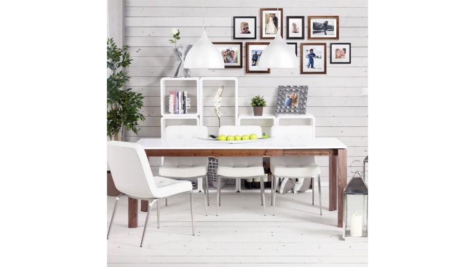rek cube de rangement recangulaire en bois laqu blanc. Black Bedroom Furniture Sets. Home Design Ideas