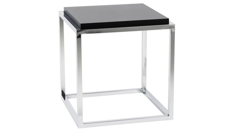 Square - Cube de rangement carrée empliable tablette noire