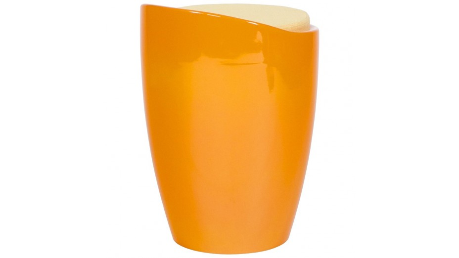 Tab - Tabouret coffre Orange