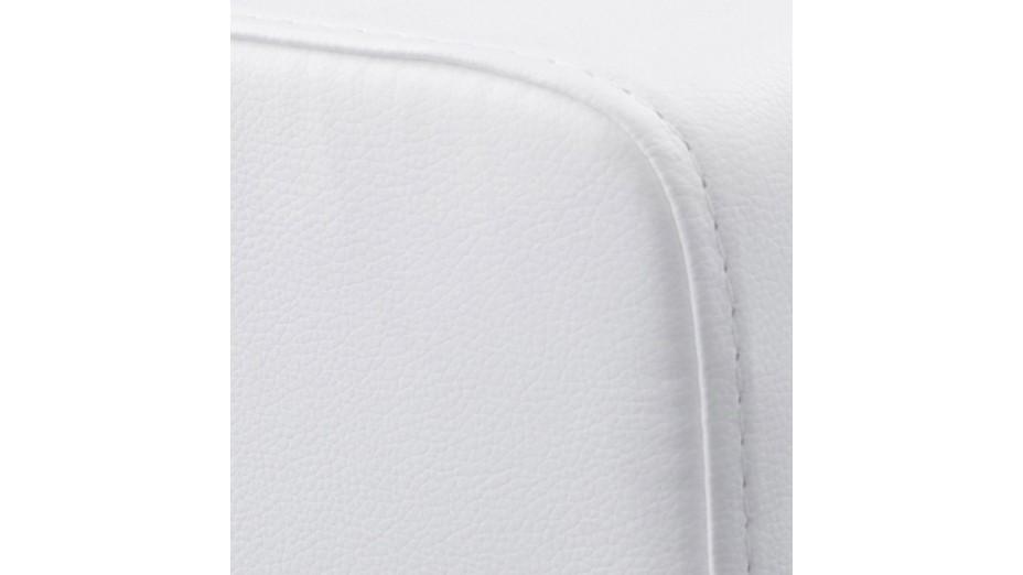 como tabouret pouf carr en simili cuir blanc. Black Bedroom Furniture Sets. Home Design Ideas