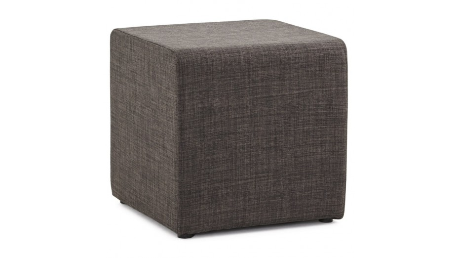 yoko tabouret pouf tissu chin gris fonc. Black Bedroom Furniture Sets. Home Design Ideas