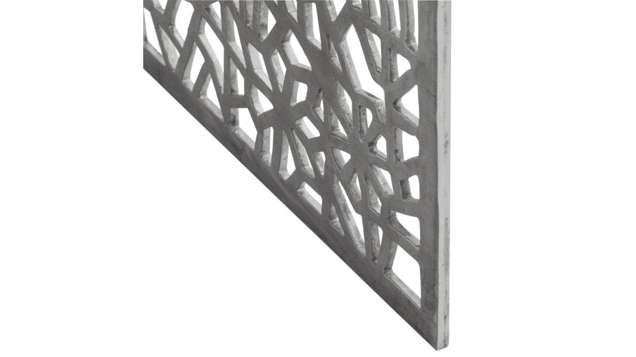 ATENA - Table basse en aluminium poli
