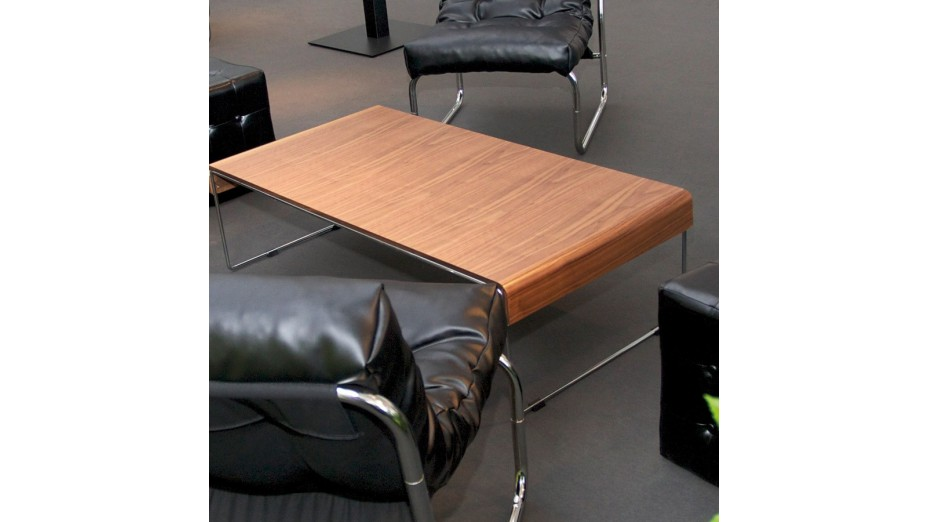 Ichk - Table basse design noyer