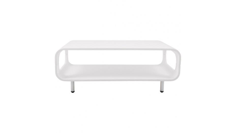 Popy table basse design laqu blanc - Table basse bar blanc laque ...