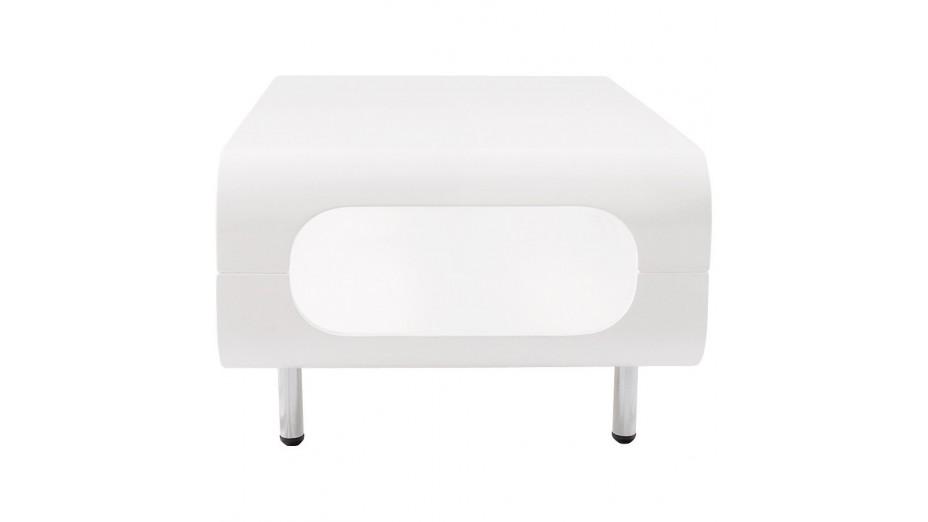 Popy - Table basse design laqué blanc