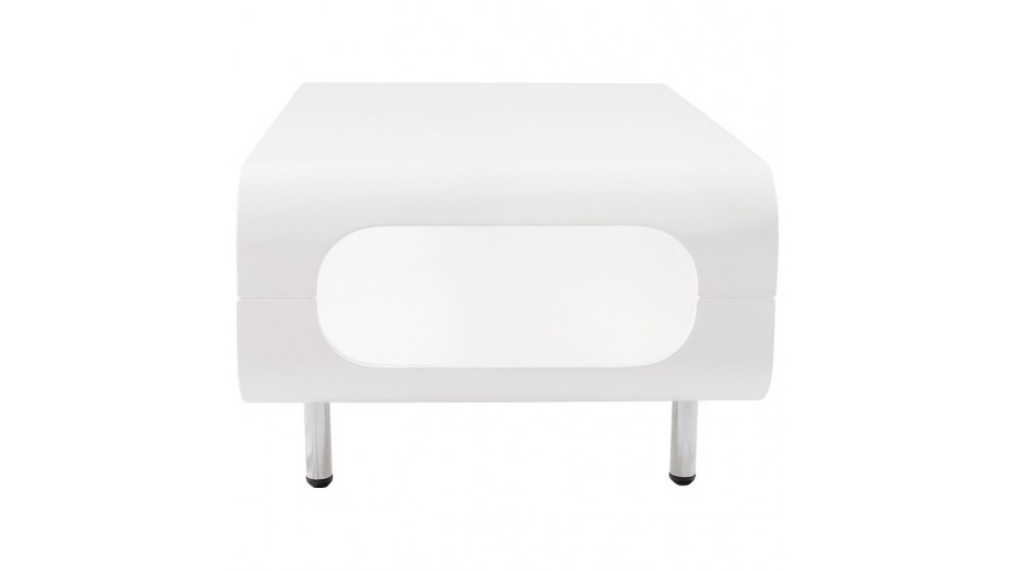 Popy - Table basse design laqué blanc
