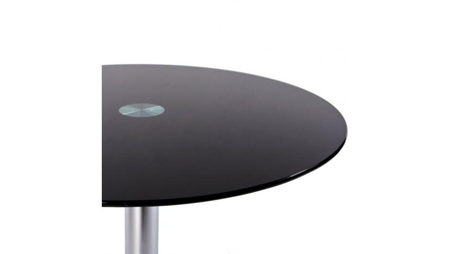 zo bout de canap rond verre noir. Black Bedroom Furniture Sets. Home Design Ideas