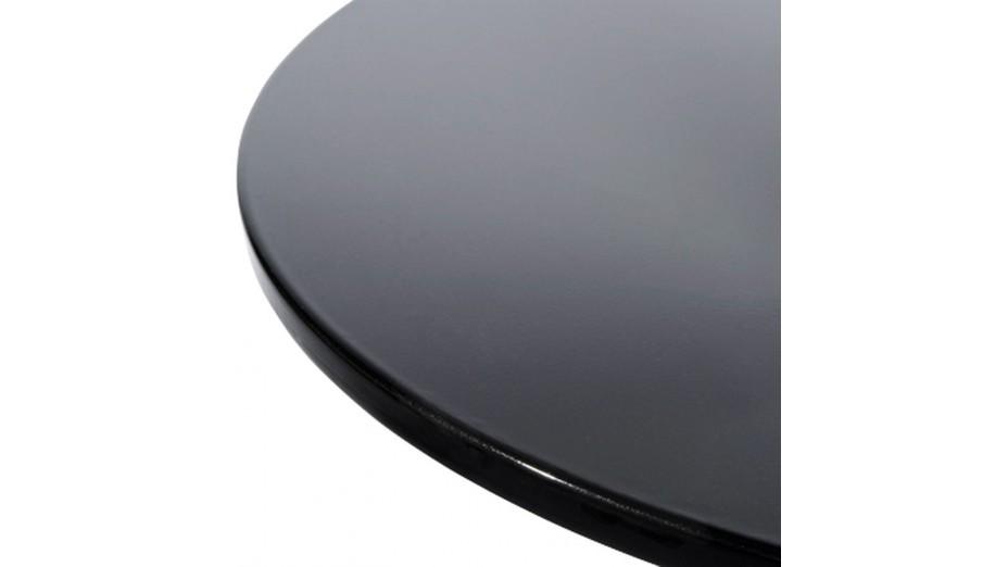 Sato - Bout de canapé design plateau noir