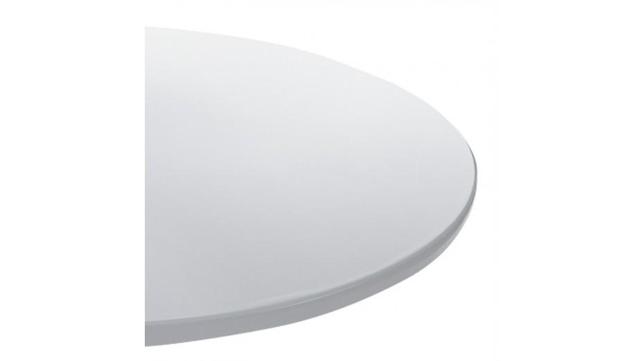 Sato - Bout de canapé design plateau blanc