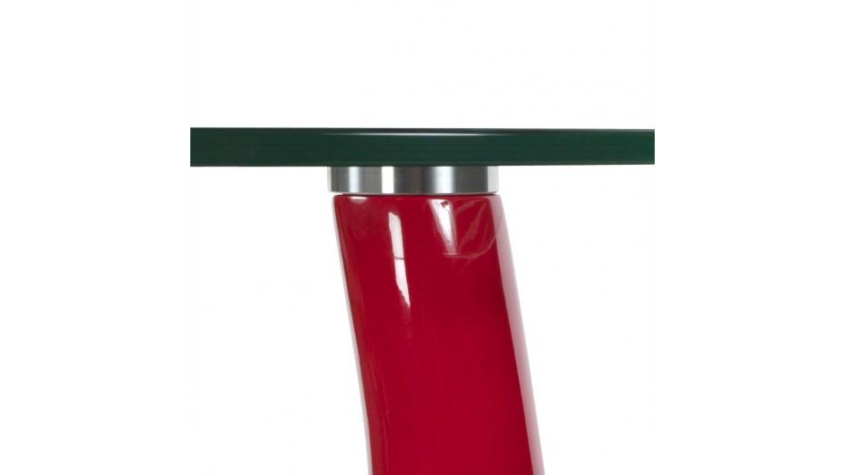 Blump - Bout de canapé pied laqué rouge